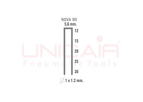 Agrafeuse pneumatique Unicair Nova 90/30. Agrafes type 90jusqu'à 30mm de long.
