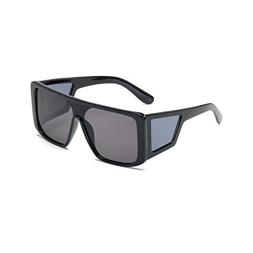 Sport-Sonnenbrillen, Vintage Sonnenbrillen, Big Frame Steampunk Sunglasses Men Oversize Fashion Retro Vintage Sun Glasses Square Spiegel Male Oculos Gafas De Sol Feminino Black Grey