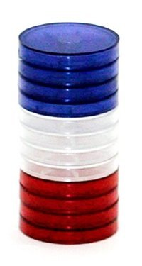 Preisvergleich Produktbild 1 Translucent Magnetic Status Markers (Red / Clear / Blue) by Alea Tools
