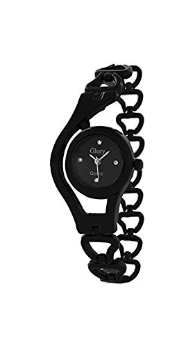 Womens watches ( MS ENTERPRISE Black Dial Round Analogue watches for womens and girls - MS-B-CHAIN-8 )