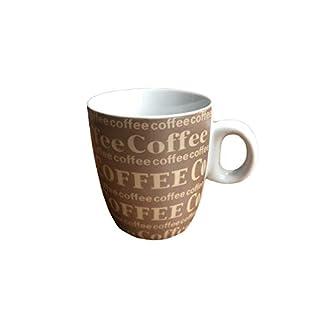 AiO-S - OK Kaffeetasse Kaffeebecher mit Aufschrift Coffee weiß braun 200 ml Q75500090