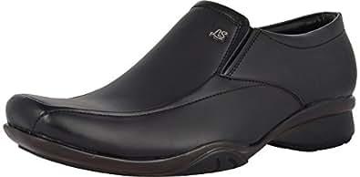BROWN CHIP Men's Black Suede Formal Shoes 10 UK
