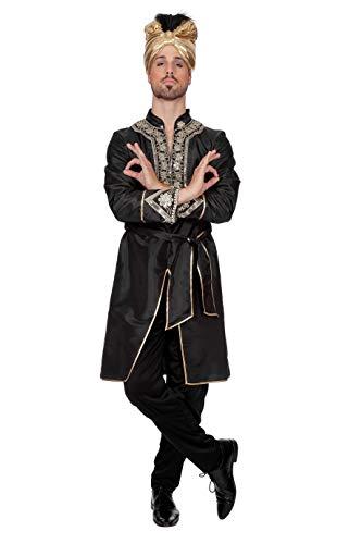 narrenkiste W5018-50 schwarz Herren Bollywood Sultan Maharadscha Kostüm Gr.50 (Bollywood Kostüme Herren)