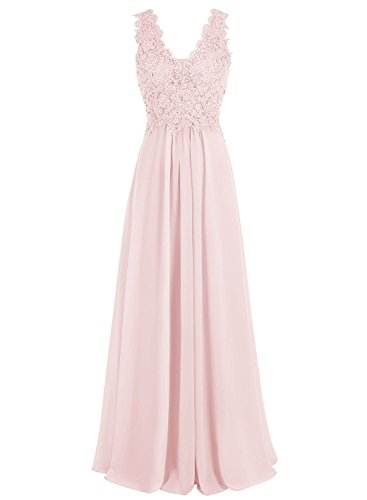 Beyonddress Damen V-Ausschnitt Lange Chiffon Abendkleider Festkleider Brautjungfernkleider mit...