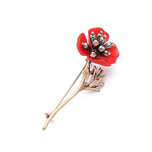 MZTYX De Weinlese-Pflaumen-Blumen-Perlen-Broschen-Mode-Party-Stifte