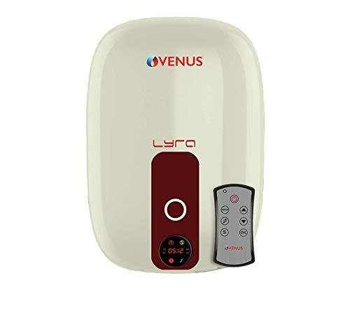 Venus Lyra Digital 015RD 15-Litre Vertical Storage Water Heater (Ivory/Wine red)