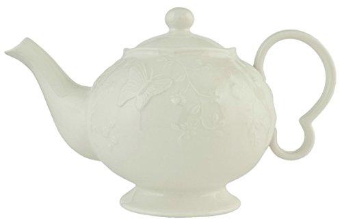 Clayre & Eef GBTE Teekanne Kanne weiß ca. 12 L