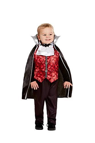 Smiffys 50798T2 Vampir-Kostüm, Jungen, Rot, Alter 3-4 Jahre (Smiffy's Vampir Kostüm)