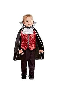 Smiffys 50798T1 - Disfraz de vampiro para niños, color rojo, edad de 1 a 2 años
