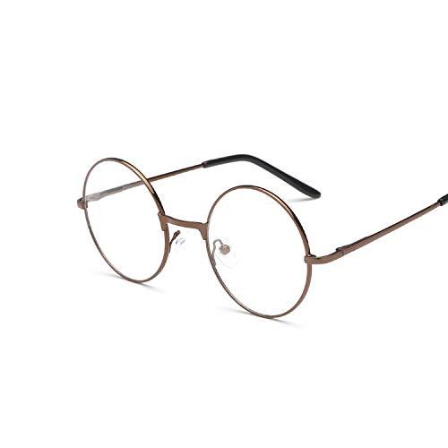 YUHANGH Runde Spiegel Sonnenbrille Für Frauen Männer Retro Metallrahmen Brillen Koreanische Klare Linse Sonnenbrille Männlich Weiblich Optische Glases
