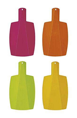 Excelsa rainbow tagliere pieghievole, plastica, rosa/arancio/giallo/verde, 40x21.5x0.5 cm