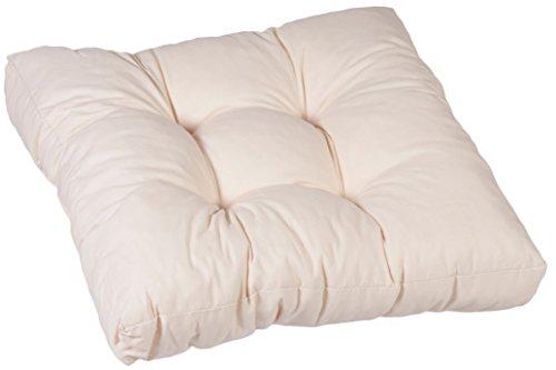 Gartenstuhl-Kissen Sitzkissen 80 x 80 cm weiß 100% Baumwolle Lounge-Kissen 60 x 60 cm cremeweiß