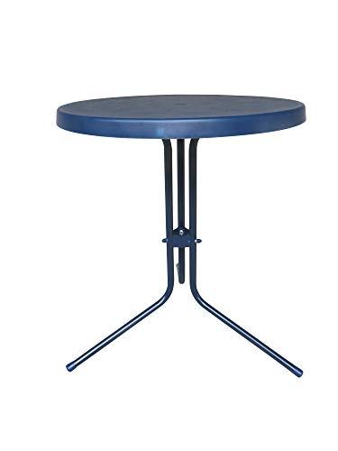 MFG Gartentischtisch 60 cm rund, blau, Made IN Germany, 85