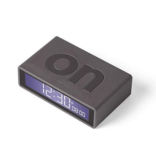 Lexon Flip+ - Reloj Despertador con Pantalla LCD, Color Gris Oscuro