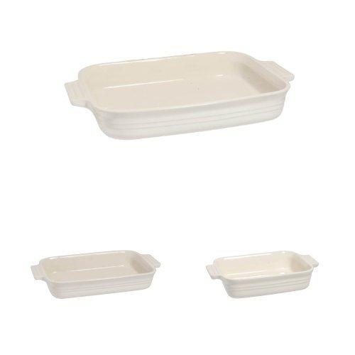 Le Creuset Stoneware Rectangular Dish Set -18, 26, 32 cm - Almond