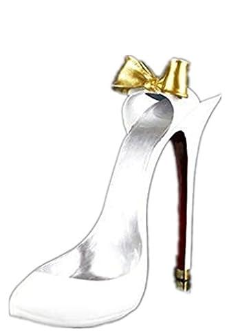 YANFEI Home Resin Wine Rack European Classic Bow Heels Modelling