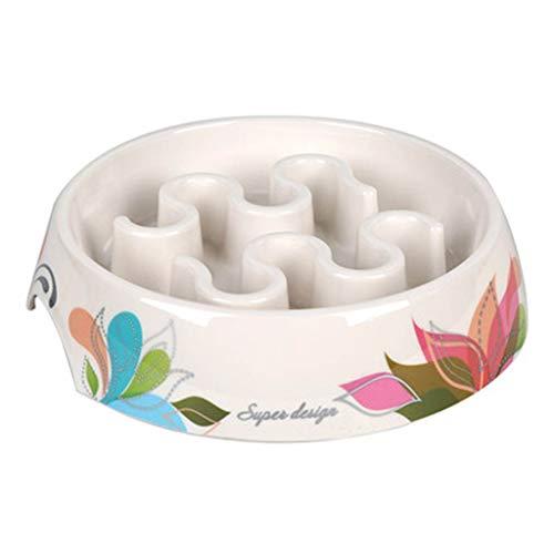 JTWJ Slow Food Bowl Hundenapf Cat Bowl Pet Supplies Applique Bowl, vier Farben erhältlich (Color : Lotus) Applique Hat