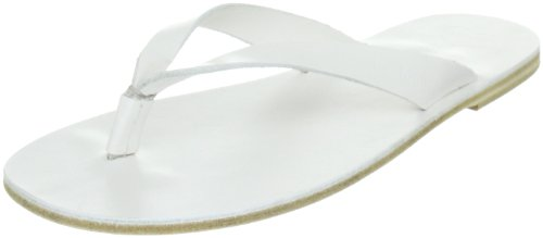 Swedish Hasbeens Thong Sandal Flat 003, Sandali donna, Bianco (Weiss (White)), 38