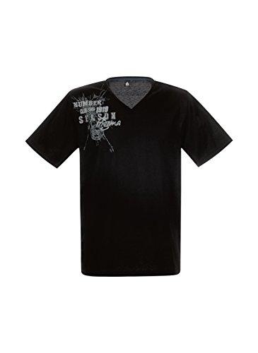 Trigema Herren T-Shirt 636743 Schwarz