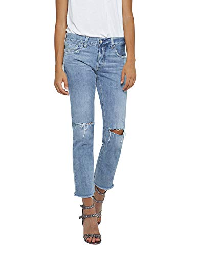 Replay Damen ILARIYA Straight Jeans, Blau (Light Blue 10), W28/L28 (Herstellergröße: 28) - Button-fly Baumwolle Rock