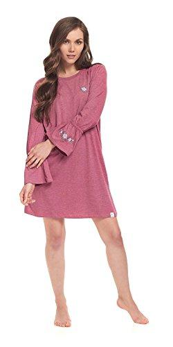 dn-nightwear Damen Nachthemd EMILIA / langarm Blueberry