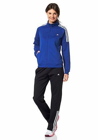 adidas Damen Trainingsanzug FRIEDA SUIT, blau/schwarz/weiß, Gr. L