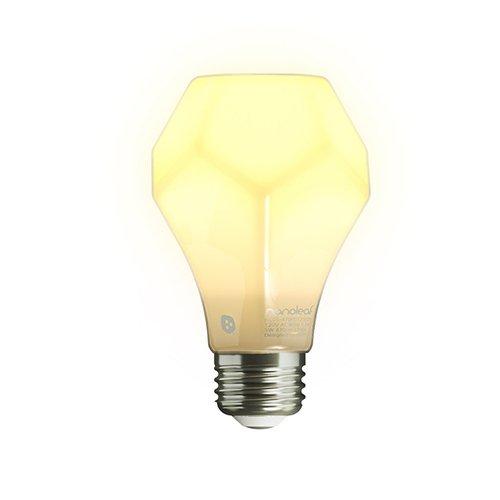 nanoleaf Gem 800 - dimmbare Design LED Birne mit sehr hoher Effizienz und warmen Licht [A+ | E27 | 800 Lumen | 7W = 60W | Lebensdauer 25.000 Stunden|2700K 360 Grad Lichtverteilung] [Energieklasse A++]