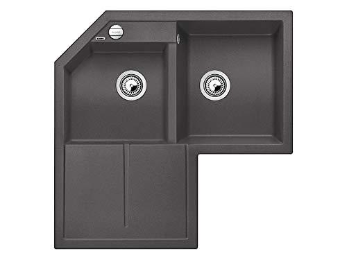 Blanco Metra 9E Felsgrau - 518 887 Granitspüle Küche Einbau Unterbau Spüle Grau Küchenspüle