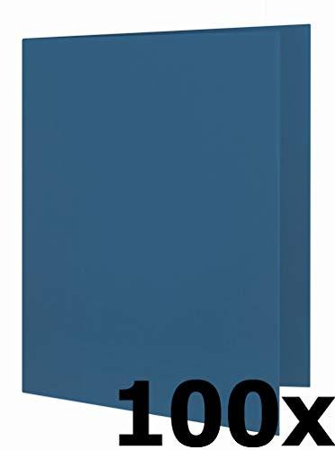 ELBA 100091649 Aktendeckel Smart Line 100er Pack aus Karton für DIN A4 Dokumente blau