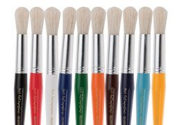 First Impressions Kids Round Chubby Paint Brush for Kids by First Impressions