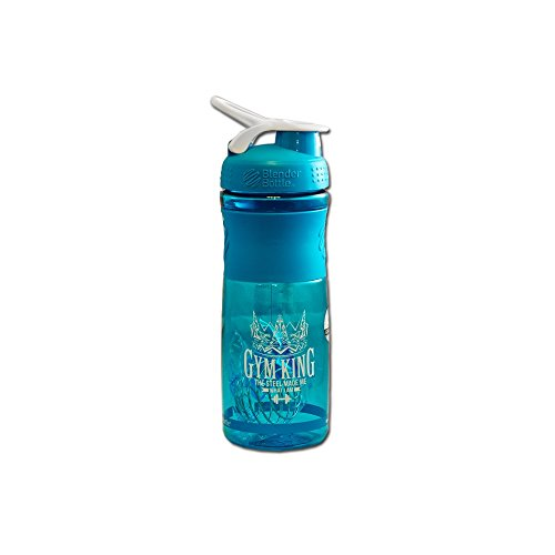 GYM KING Blender Bottle Sportmixer 828 ml Shaker 1er Pack Protein Shaker (Aqua) 1 Shaker Bottle