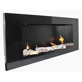 BBT@ / Metall Gelkamin Ethanolkamin Schwarz / Für Brenngel oder Bio-Ethanol / BBT-10001100 / Echtes Kamin-Feuer ohne Rauch, Asche oder Staub