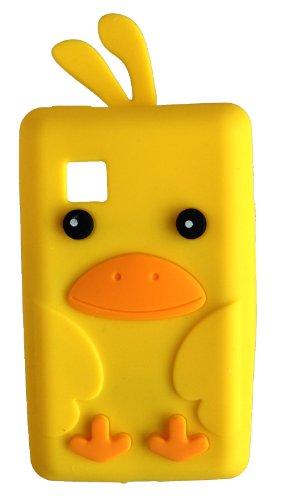 SKS Distribution® Nette gelb LG T375 Cookie Smart Huhn / Vogel niedlichen Tier Silikonhülle Shell Beschützer Handy Smartphone Zubehör (Huhn Cookie)