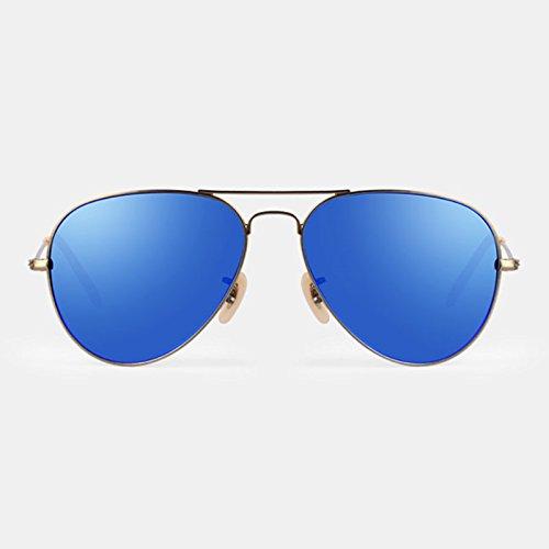 Lunettes Bleu Unisexe Anti-UV Lunettes de Soleil Polarisées Clair ( couleur : Bleu ) Bleu