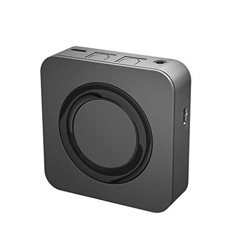 Bluetooth Adapter, 2-in-1 Bluetooth V5.0 + EDR Glasfaserschnittstelle Drahtloser Bluetooth Sender Empfänger Adapter Stereo Audio (A)