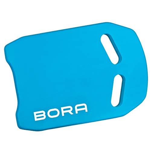 BoraSports Premium Schwimmbrett - Kickboard ideal für Schwimmübungen & Training (Blau) Eva-folie