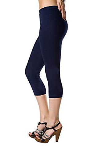 FUTURO FASHION Lovely 3/4 Longueur Leggings Coton, Classique Pantalon Extensible