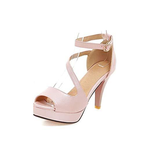 Sandalias Tacon Alto Mujer Plataforma Zapatos Vestir