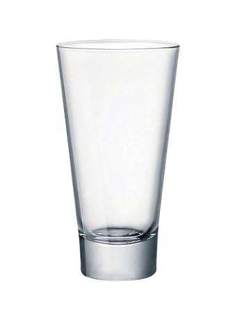 Ypsilon Hiball Tumblers 16oz / 450ml - Pack of 6 | 45cl Tumbler Glasses, Fluted Tumbler, Heavyweight Tumbler, Hiball Glass from Bormioli