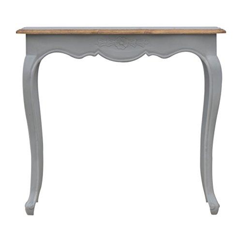 Artisan Meubles de Style français Table Console, Bois, Finition Oak-ish Top/Base Gris, 90 x 35 x 80 cm
