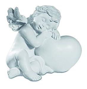 KATERINA PRESTIGE - Figura Decorativa de ángel dormirmi sobre corazón A, BROHF1506A