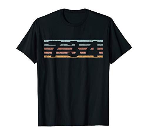 734 Vorwahl Retro Michigan Ann Arbor T-Shirt
