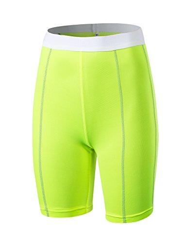 Azue Damen Short, grün, AUZKAS1823PGA1L (Mesh Grün Shorts Champion)