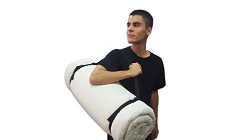 Tragbare Futon Weiße, 200x80x3 cm
