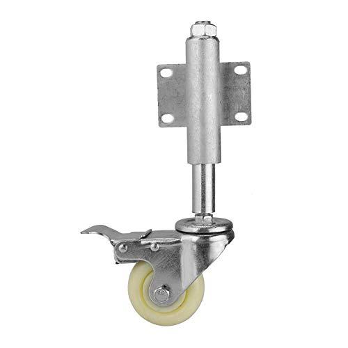 Torschaftrad, gefederte 3-Zoll-Nylon-Lenkrolle mit Feststellbremse und einer Belastbarkeit von 220 lbs für die Industrie