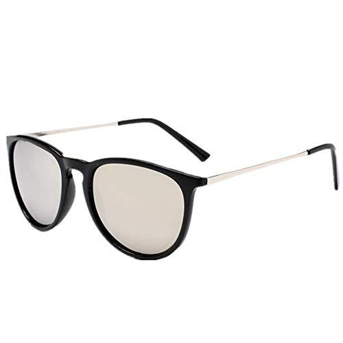 GJYANJING Sonnenbrille Retro Männliche Runde Sonnenbrille Frauen Männer Marke Designer Sonnenbrille Für Frauen Legierung Spiegel Sonnenbrille Ray Damen