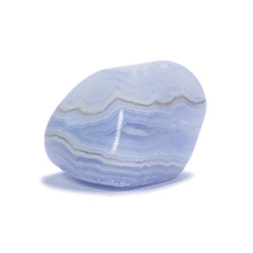 Unbekannt Chalcedon blau, Kalzedon Trommelsteine (ca. 3-5 Steine, Gesamt:50g)