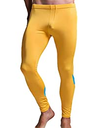 4649622892 Men Sport Pants Gym Running, Men's Print Cotton Breathable Sports Leggings  Thermal Long Johns Underwear