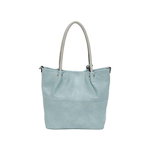 Maestro Surprise Handtasche Bag in Bag Shopper 41 cm sky hellgrau
