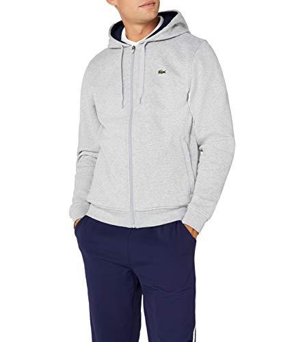 7 Sweatshirt (Lacoste Herren Sh7609 Sweatshirt, Grau (Argent Chine/Marine), XX-Large (Herstellergröße: 7))